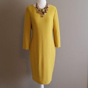 Calvin Klein mustard gold dress